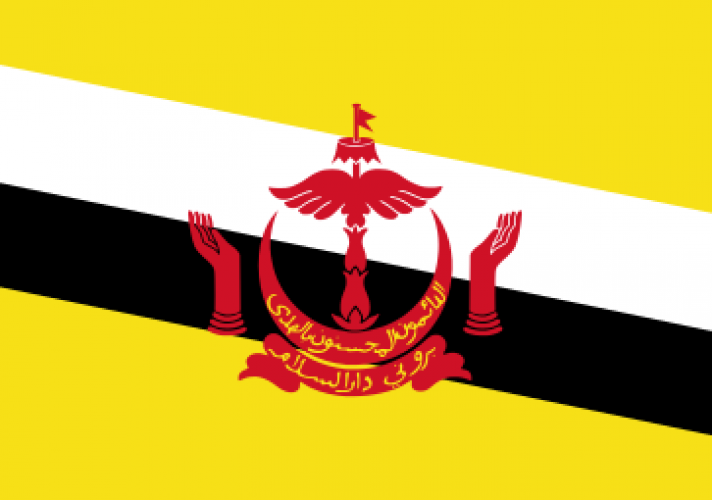 the-national-flag-of-brunei-has-the-crest-of-brunei-in-the-centre-on-a-yellow-fieldthe-yellow-field-represents-the-sultan-of-brunei