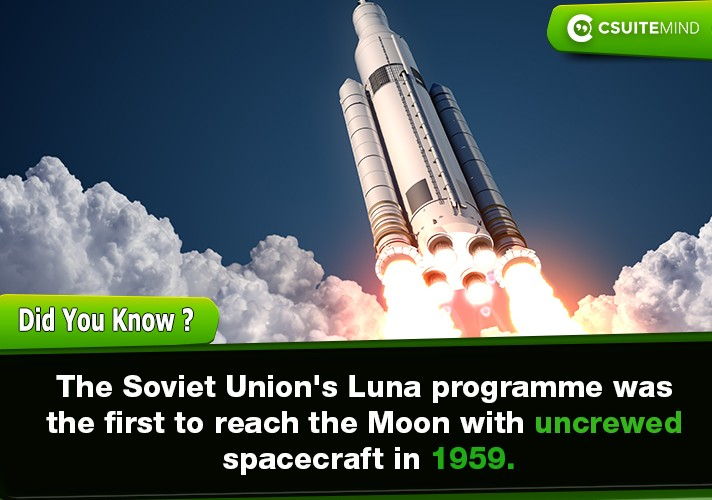 the-soviet-unions-luna-programme-was-the-first-to-reach-the-moon-with-uncrewed-spacecraft-in-1959