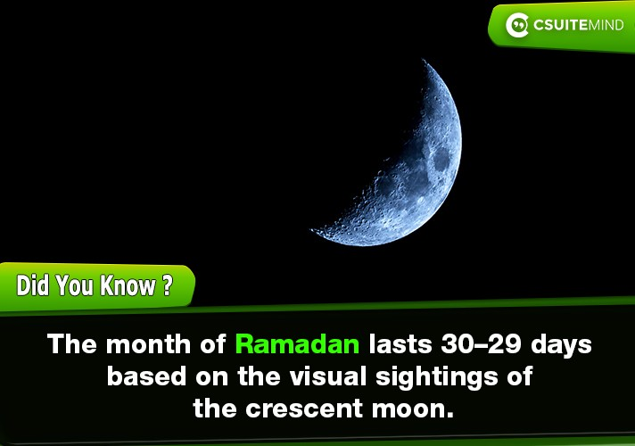 the-month-of-ramadan-lasts-2930-days-based-on-the-visual-sightings-of-the-crescent-moon