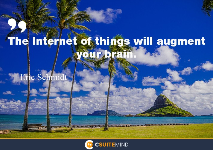 The Internet of things will augment your brain