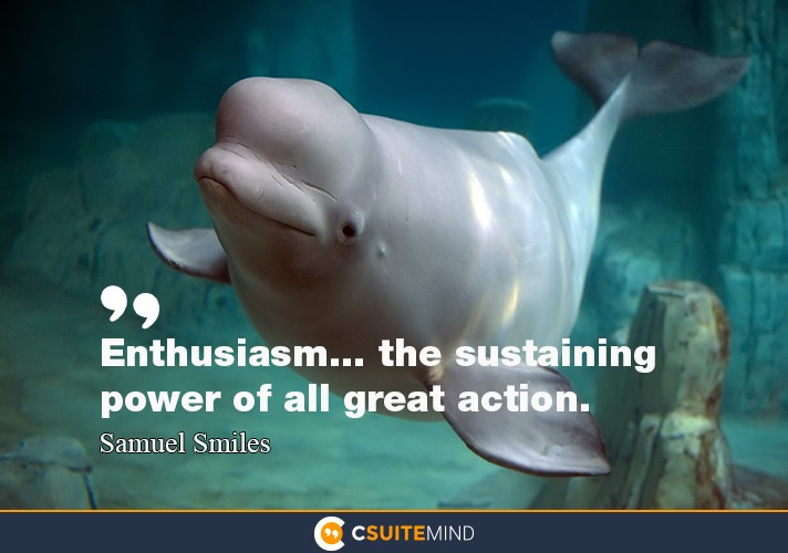Enthusiasm... the sustaining power of all great action