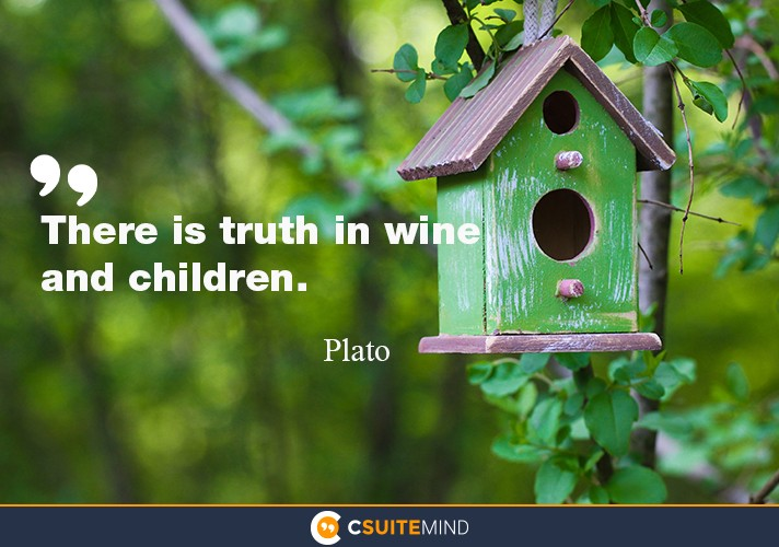 There is truth in wine and children