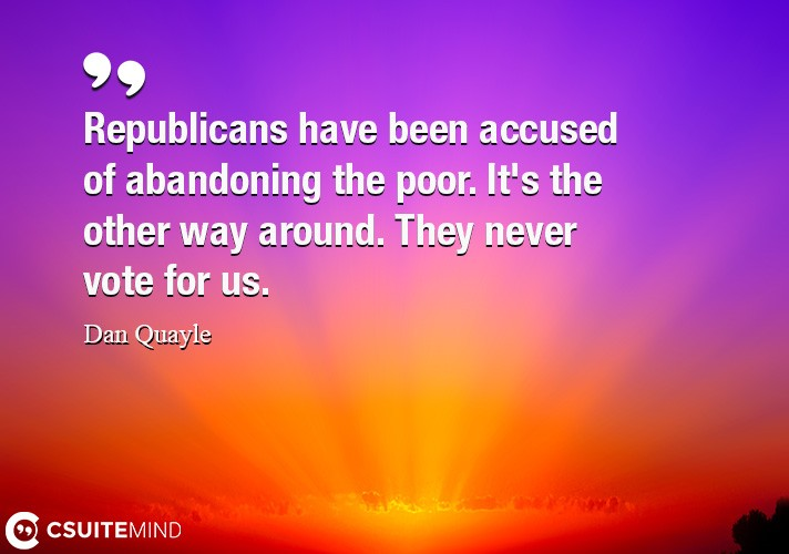 Republicans have been accused of abandoning the poor.