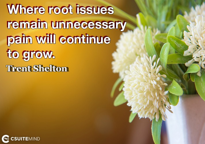 Where root issues remain unnecessary pain will continue to grow.