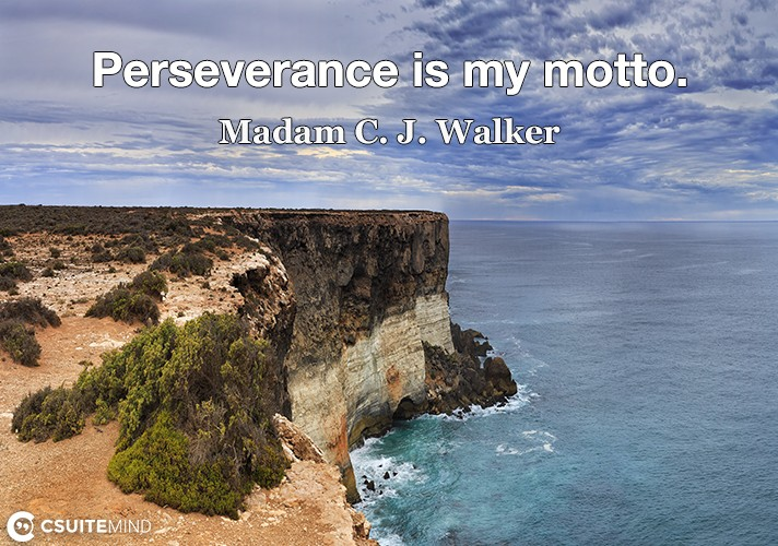 Perseverance is my motto.