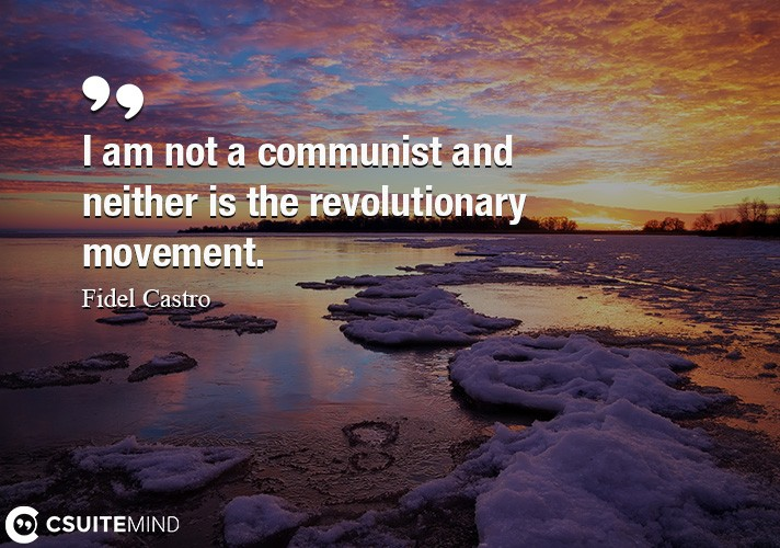 I am not a communist and neither is the revolutionary movement.