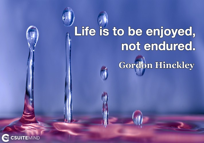 life-is-to-be-enjoyed-not-endured
