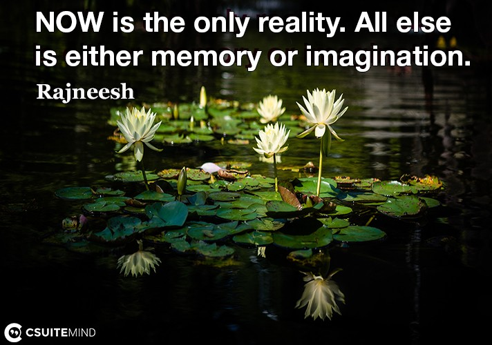 now-is-the-only-reality-all-else-is-either-memory-or-imagin