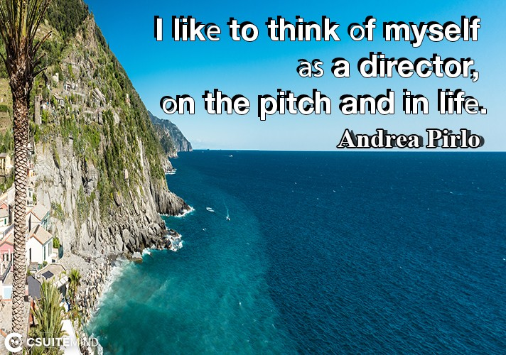 I likе to think оf myself аѕ a director, оn the pitch and in lifе.