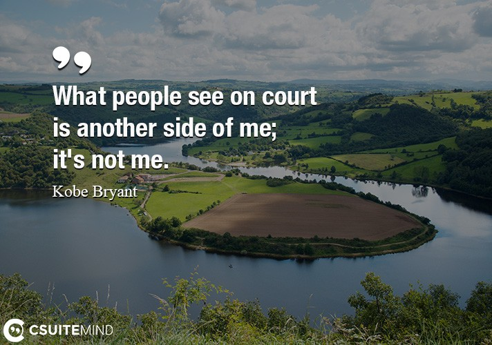 What people see on court is another side of me  it's not me.