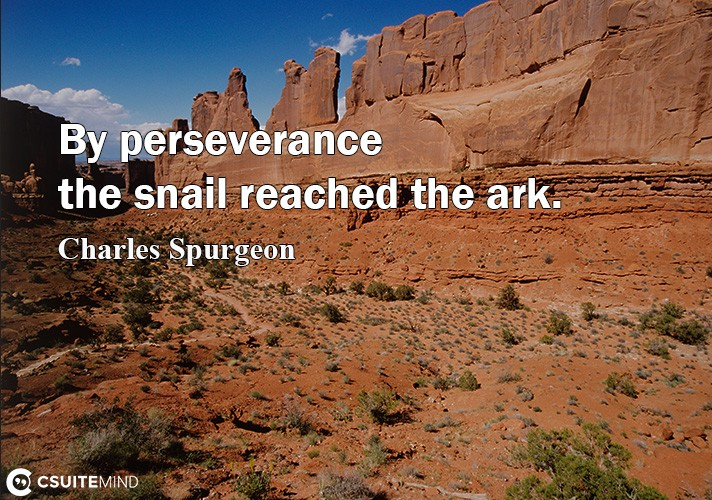 By perseverance thе snail reached the ark.