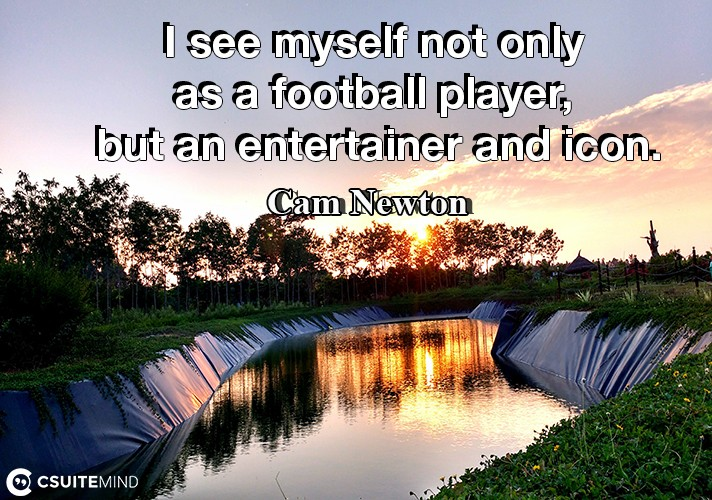 I see myself not only as a football player, but an entertainer and icon.