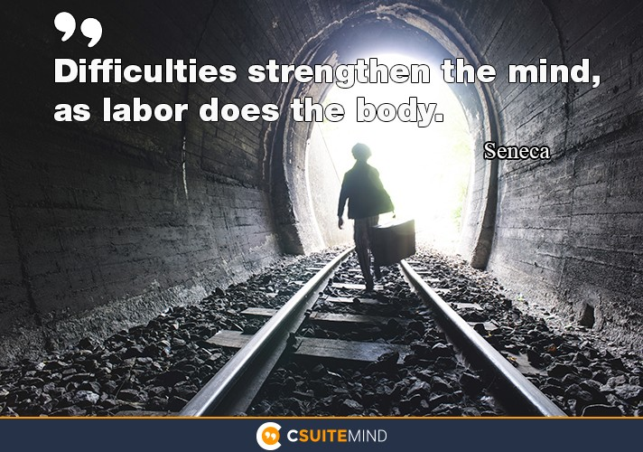 Difficulties strengthen the mind, as labor does the body.