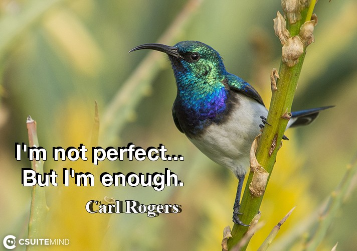 I'm not perfect... But I'm enough.