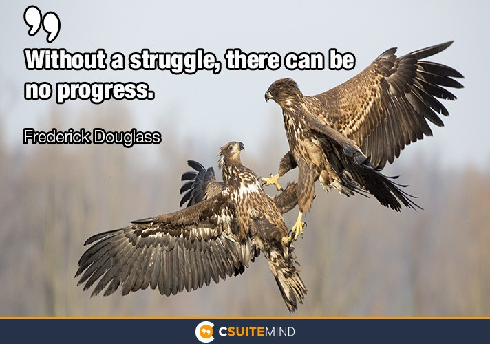 """Without a struggle, there can be no progress."""