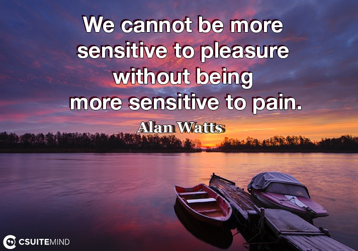 we-cannot-be-more-sensitive-to-pleasure-without-being-more-s