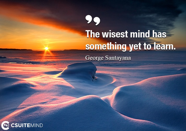 The wisest mind has something yet to learn.