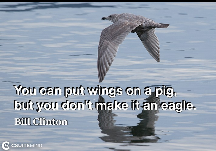You can put wings on a pig, but you don't make it an eagle.