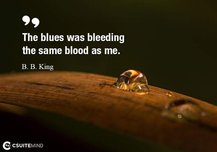 The blues was bleeding the same blood as me.