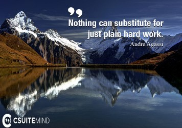 Nothing can substitute for just plain hard work.