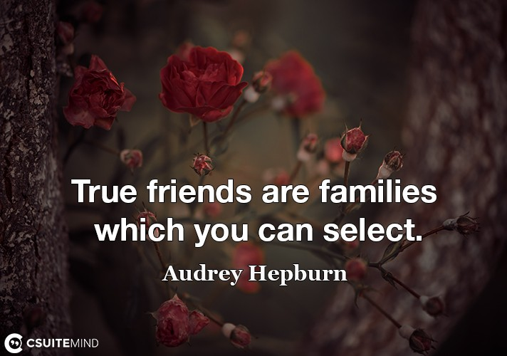 True friends are families which you can select.
