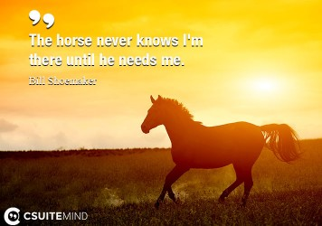 the-horse-never-knows-im-there-until-he-needs-me