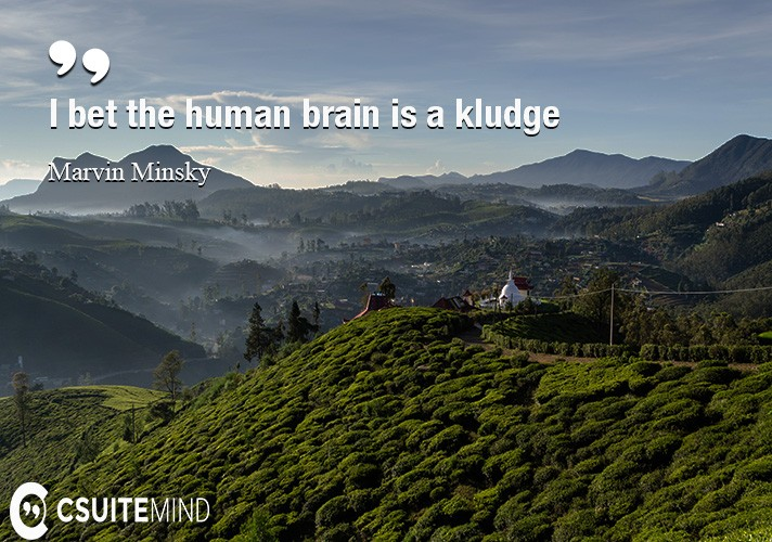 I bet the human brain is a kludge