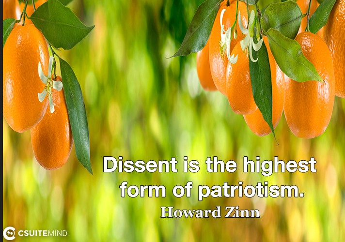 Dissent is the highest form of patriotism.