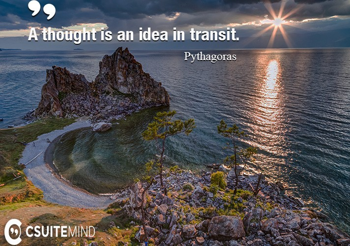 A thought is an idea in transit.
