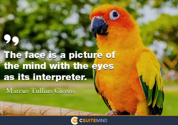 The face is a picture of the mind with the eyes as its interpreter.